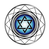 Star of David- Jewish religious symbol — Stock Vector