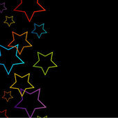 Background with colorful stars — Stockvector