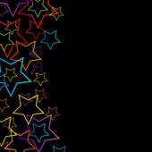 Background with colorful stars — Stock vektor