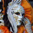 Elegant female mask. Carnival in Venice. — Stock Photo