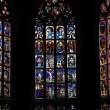 Beautiful stained glass windows in a cathedral in Bern, Switzerland — Stock Photo