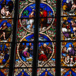 Beautiful stained glass window in a cathedral in Bern, Switzerland — Stock Photo #16274073