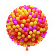 Big bunch of party balloons — Stock Photo #18362737