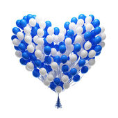 Big bunch of party balloons.Heart shape — Stock Photo