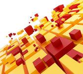 Teamwork concept. Cubes puzzle — Stock Photo