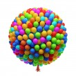 Big bunch of party balloons. Isolated on white background. — Stock Photo #24832483