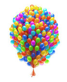 Big bunch of party balloons. — Stock Photo