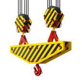 Construction crane hook — Stock Photo