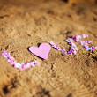 Love on sand — Stock Photo #15741899