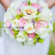 Royalty-Free Stock Photo: Engagement rings on wedding bouquet