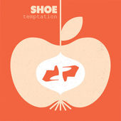 Apple shoes — Stock Vector