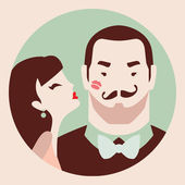 Man and woman in love — Stock Vector