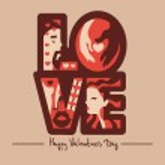 Love typography background — Stock Vector