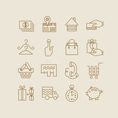 Shopping and electronic commerce icons — Stock Vector