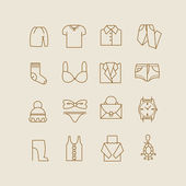 Woman clothes icons — Stock Vector