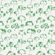 Green leaves seamless pattern  — Stock Vector