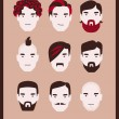 Royalty-Free Stock Vectorielle: Man hairstyle