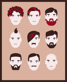 Man hairstyle — Stock Vector