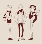 Man fashion — Stock Vector