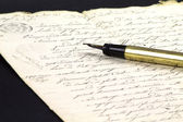 Old hand written document — Stockfoto
