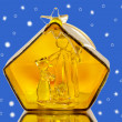 Nativity under snow - Stock Photo