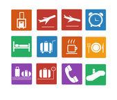 значок airport. плоские иконы set — Cтоковый вектор