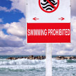 Swimming prohibited — Stock Photo