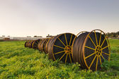 Irrigation pipes — Stock Photo