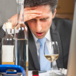 Business man alcohol abuse — Foto Stock