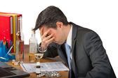 Business man alcohol abuse — Stock Photo