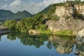 Tri Ton in An Giang Province Vietnam - Mountain and reflects — Stock Photo