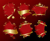 Set of holiday red banners — Stock Vector