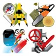 Job occupation icons — Stock Vector #17439335