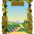 Vineyard Gate - Stock Vector