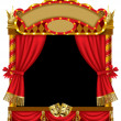 Stock Vector: Puppet show booth