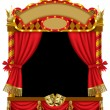 Royalty-Free Stock Vector Image: Puppet show booth