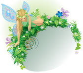 Fairy girl — Stock Vector