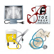 Stock Vector: Set of medical icons