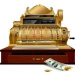 Vintage cash register — Stock Vector #17486891