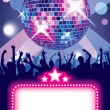 Royalty-Free Stock Векторное изображение: Disco party