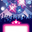 Royalty-Free Stock Imagen vectorial: Disco party