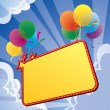 Royalty-Free Stock Vector Image: Banner with balloon