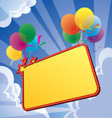 Banner with balloon — Stock Vector