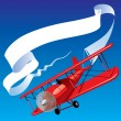 Royalty-Free Stock Imagen vectorial: Airplane with a banner
