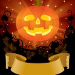 Halloween placard - Stock Vector