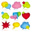 Stock Vector: Speak bubbles