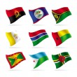 Set of world flags 11 - Stock Vector
