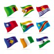 Set of world flags 11 — Stock Vector