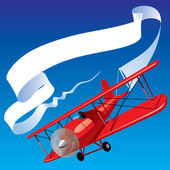 Airplane with a banner — Stock Vector