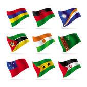 Set di bandiere del mondo 11 — Vettoriale Stock